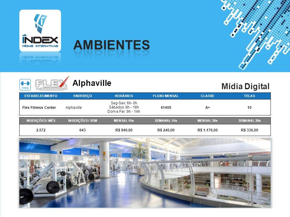 AMBIENTES Alphaville Mídia Digital Flex Fitness Center Alphaville