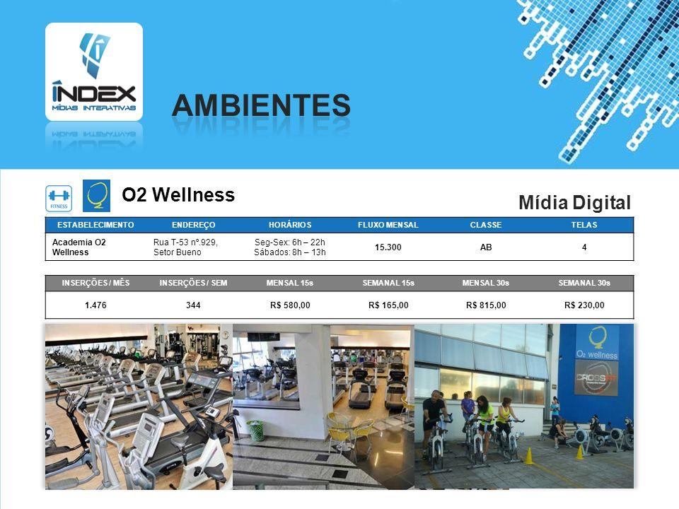 AMBIENTES O2 Wellness Mídia Digital Academia O2 Wellness
