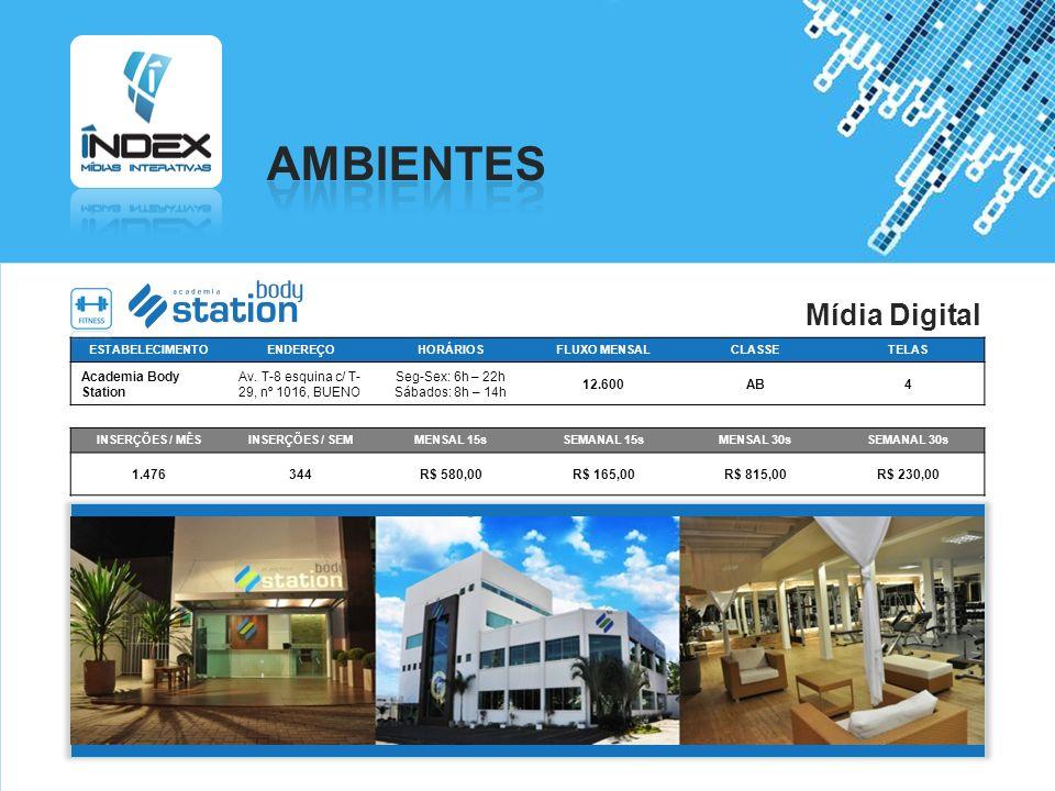 AMBIENTES Mídia Digital Academia Body Station