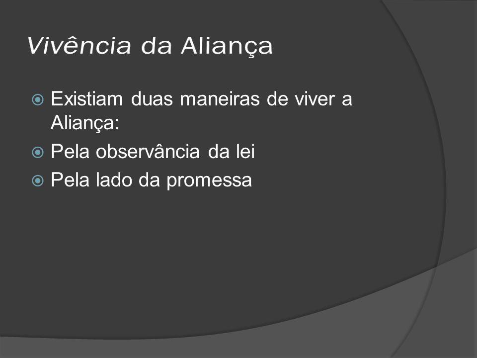 Vivência da Aliança Existiam duas maneiras de viver a Aliança: