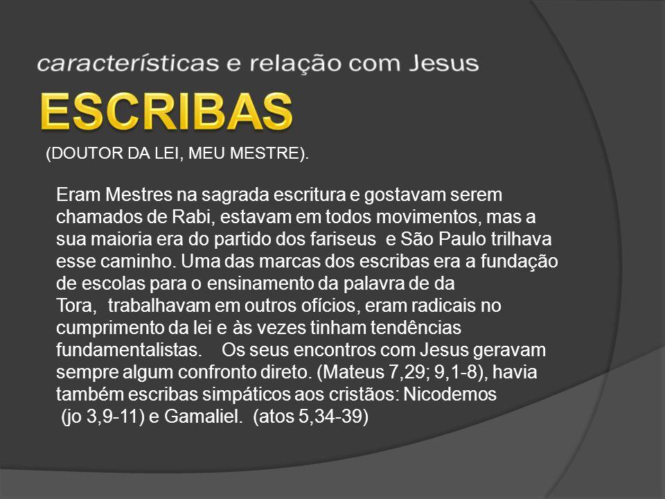 características e relação com Jesus