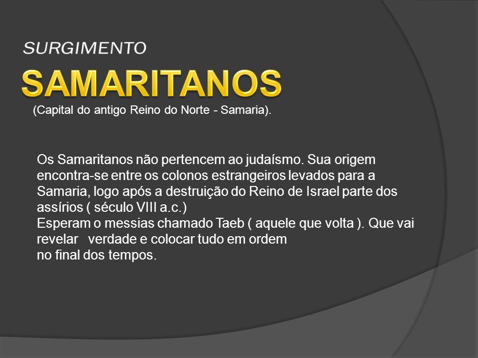 SAMARITANOS SURGIMENTO