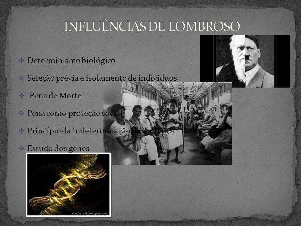 INFLUÊNCIAS DE LOMBROSO