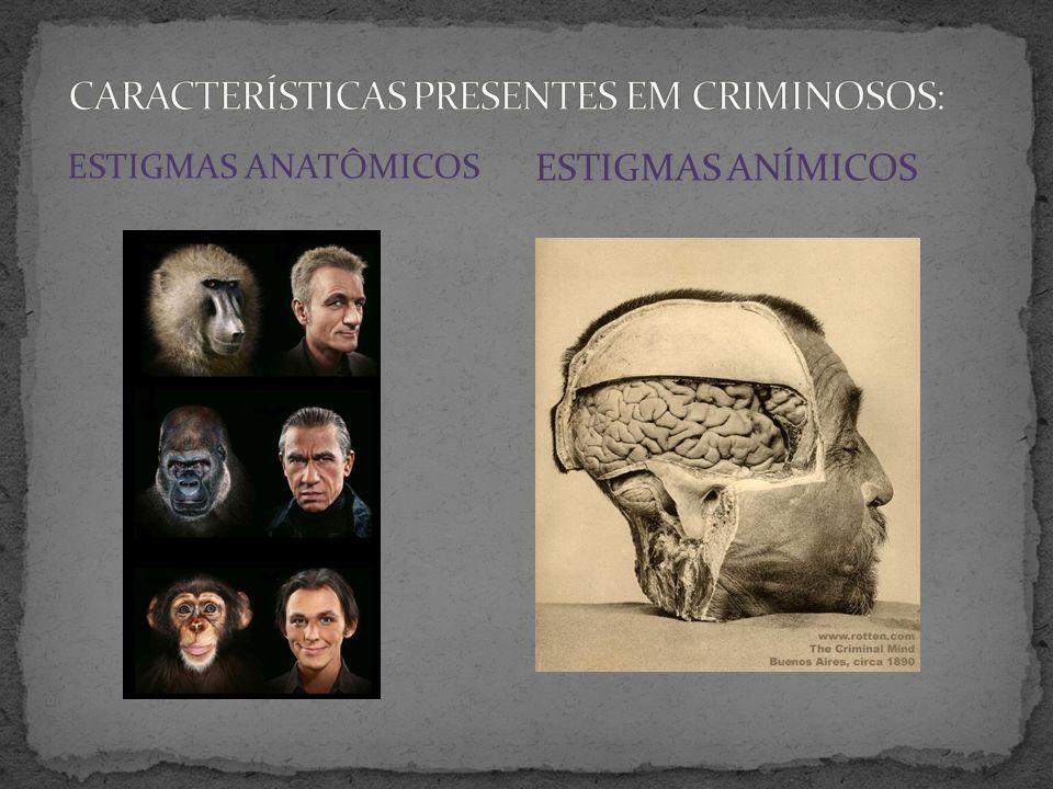 CARACTERÍSTICAS PRESENTES EM CRIMINOSOS: