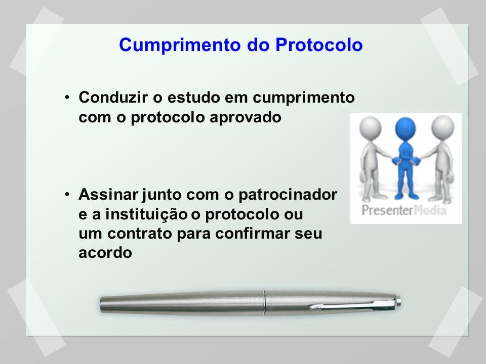 Cumprimento do Protocolo