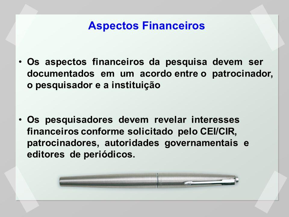 Aspectos Financeiros