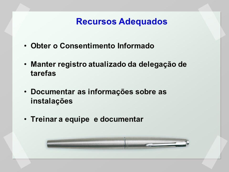 Recursos Adequados Obter o Consentimento Informado