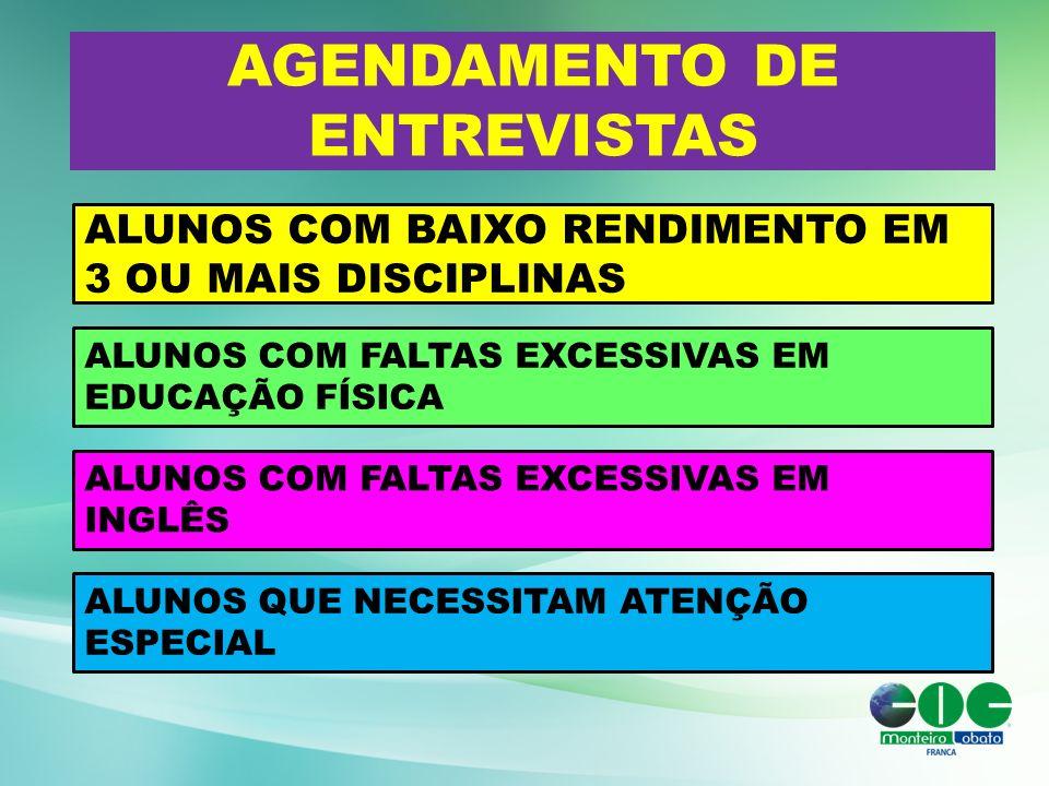 AGENDAMENTO DE ENTREVISTAS