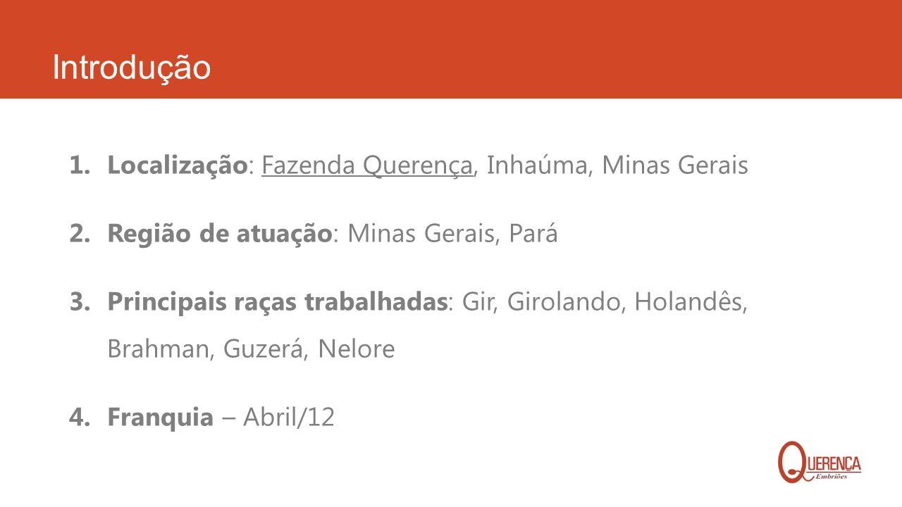 Introdução Localização: Fazenda Querença, Inhaúma, Minas Gerais