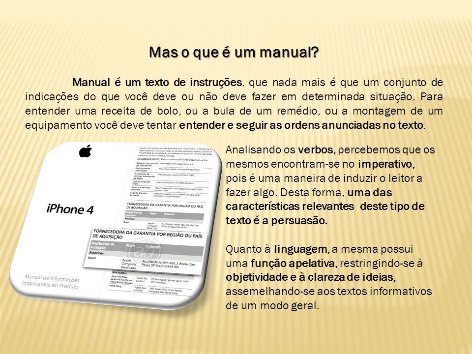 Mas o que é um manual