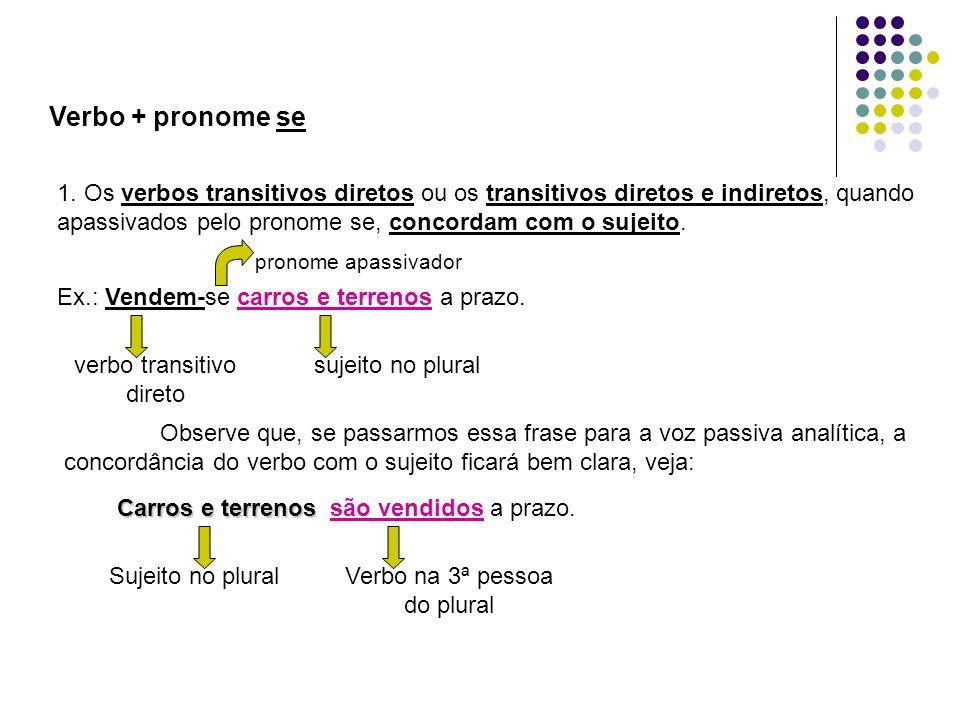 Verbo + pronome se