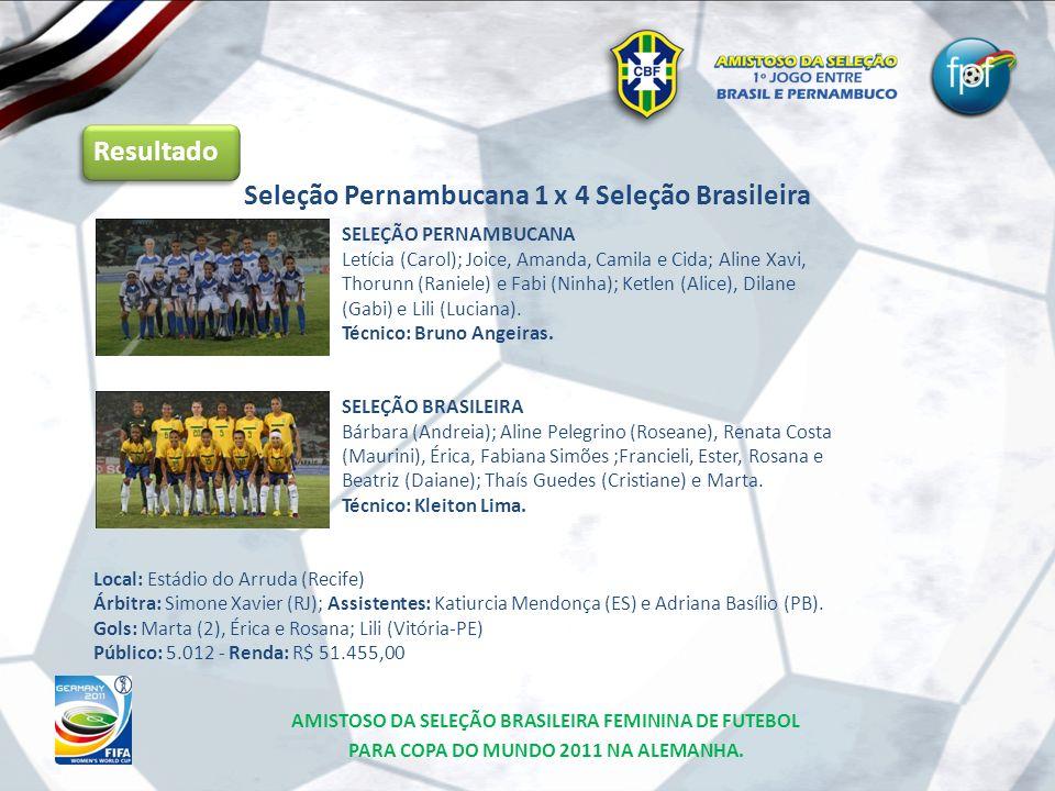 Seleção Pernambucana 1 x 4 Seleção Brasileira