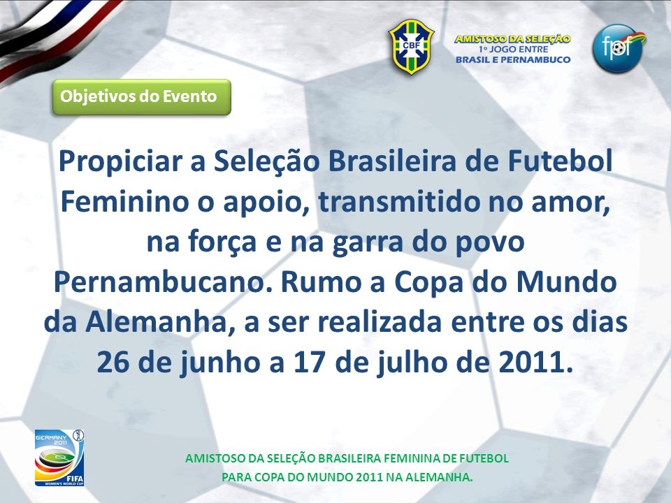 Objetivos do Evento