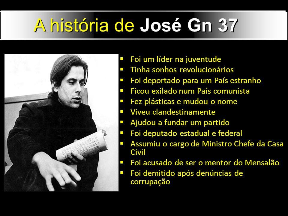 A história de José Gn 37 Foi um líder na juventude
