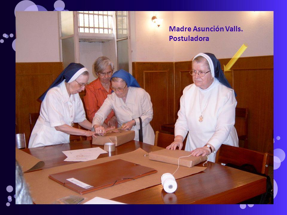 Madre Asunción Valls. Postuladora