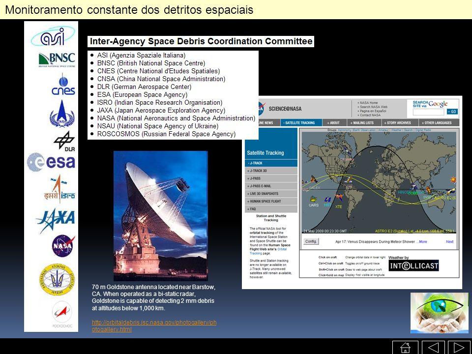 Monitoramento constante dos detritos espaciais