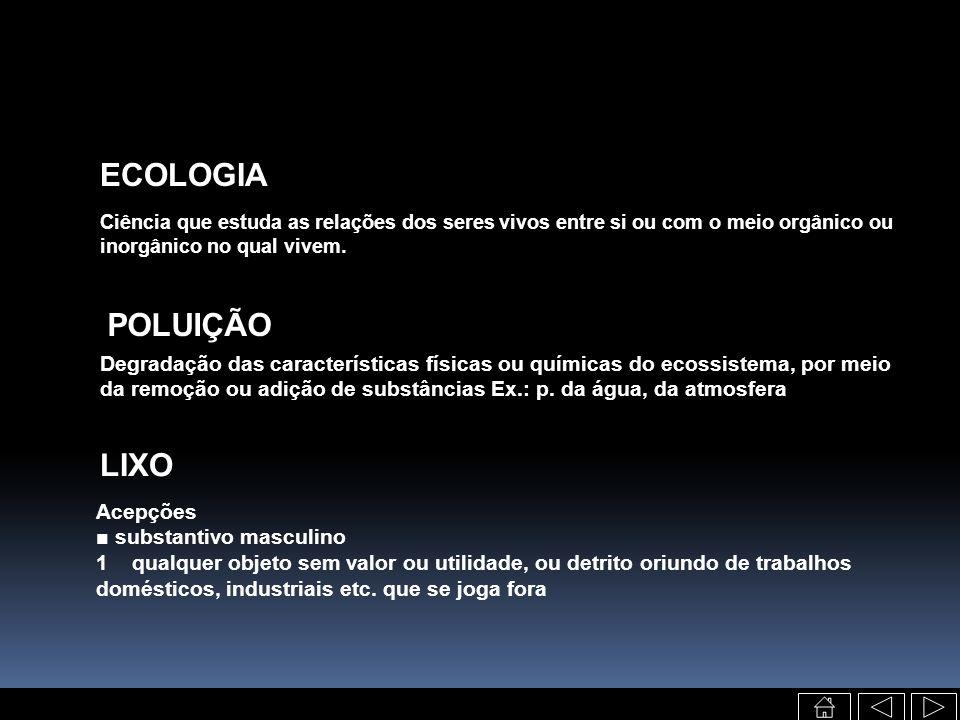 ECOLOGIA POLUIÇÃO LIXO