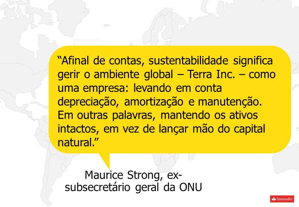 Maurice Strong, ex- subsecretário geral da ONU