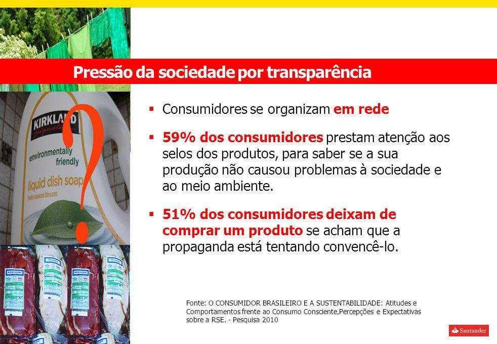 Pressão da sociedade por transparência