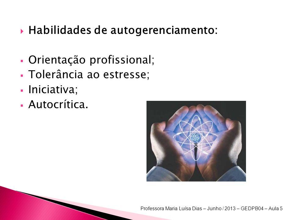 Habilidades de autogerenciamento: Orientação profissional;