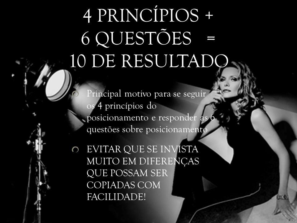4 PRINCÍPIOS + 6 QUESTÕES = 10 DE RESULTADO
