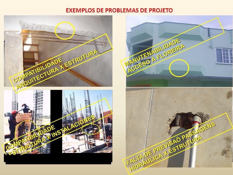 EXEMPLOS DE PROBLEMAS DE PROJETO