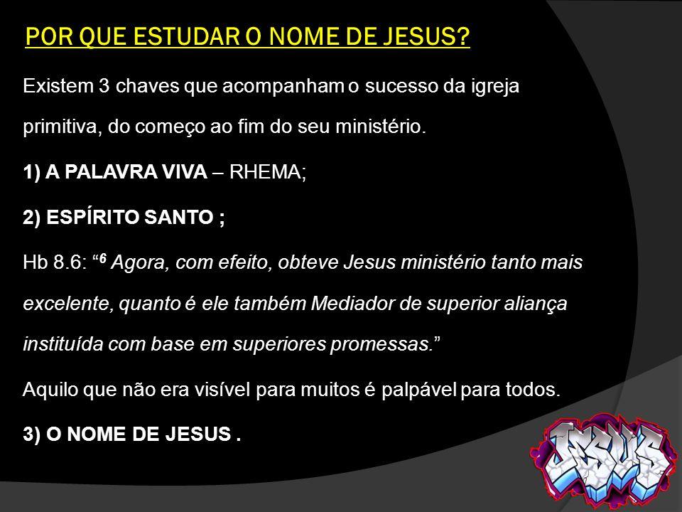 POR QUE ESTUDAR O NOME DE JESUS