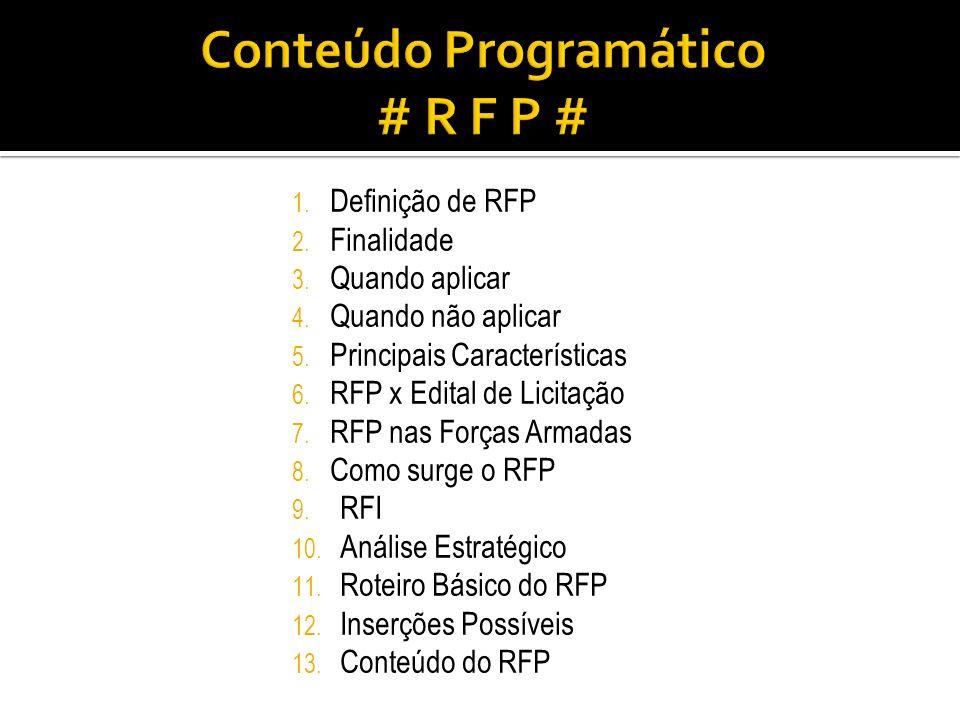 Conteúdo Programático # R F P #