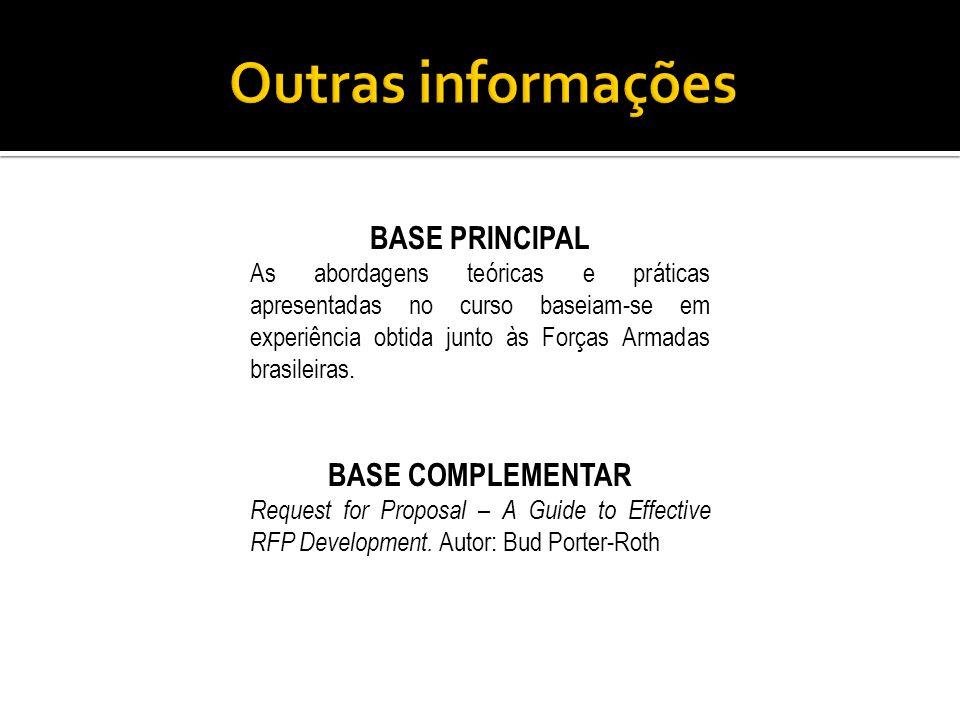 Outras informações BASE PRINCIPAL BASE COMPLEMENTAR