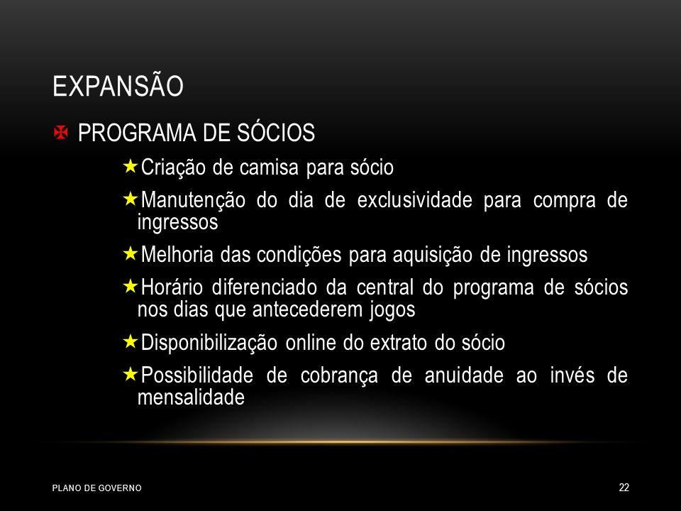 EXPANSÃO PROGRAMA DE SÓCIOS Criação de camisa para sócio