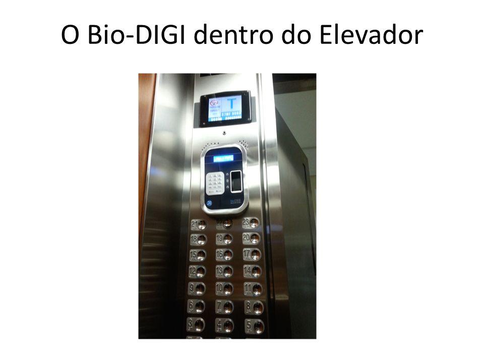 O Bio-DIGI dentro do Elevador