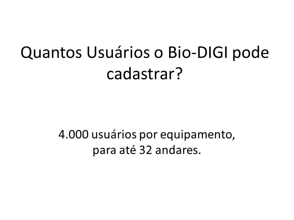 Quantos Usuários o Bio-DIGI pode cadastrar