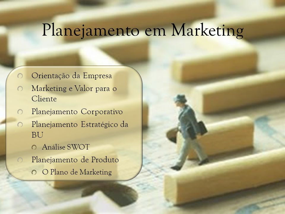 Planejamento em Marketing