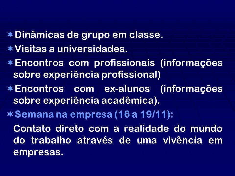 Dinâmicas de grupo em classe.