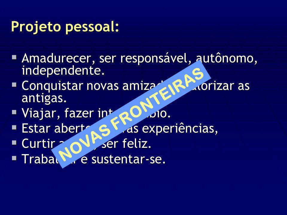 NOVAS FRONTEIRAS Projeto pessoal: