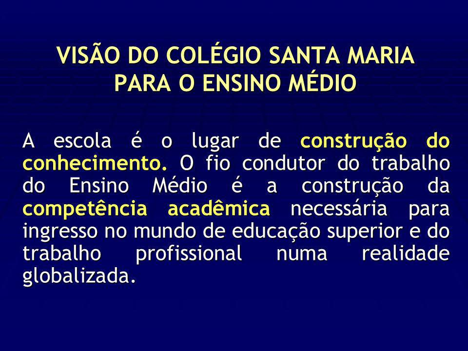 VISÃO DO COLÉGIO SANTA MARIA PARA O ENSINO MÉDIO