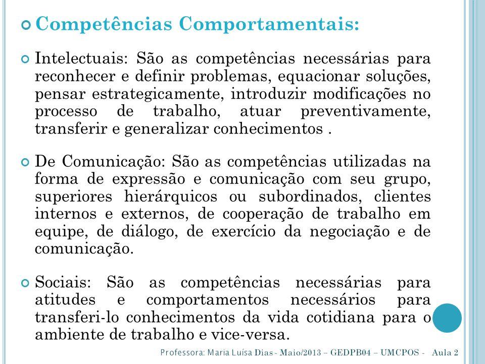 Competências Comportamentais: