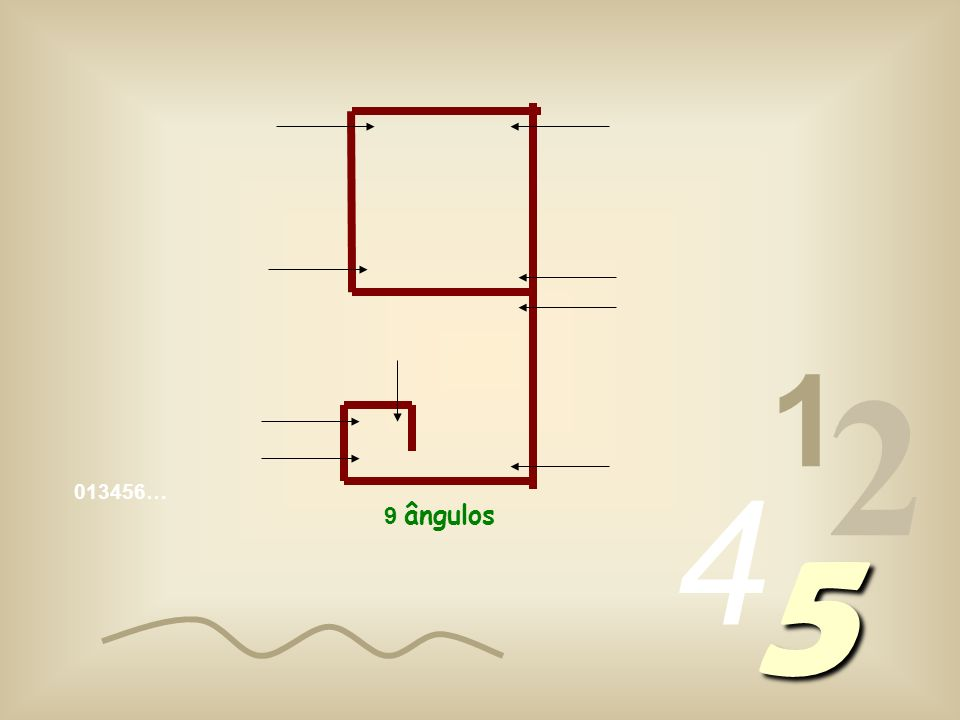 1 2 4 013456… 5 9 ângulos