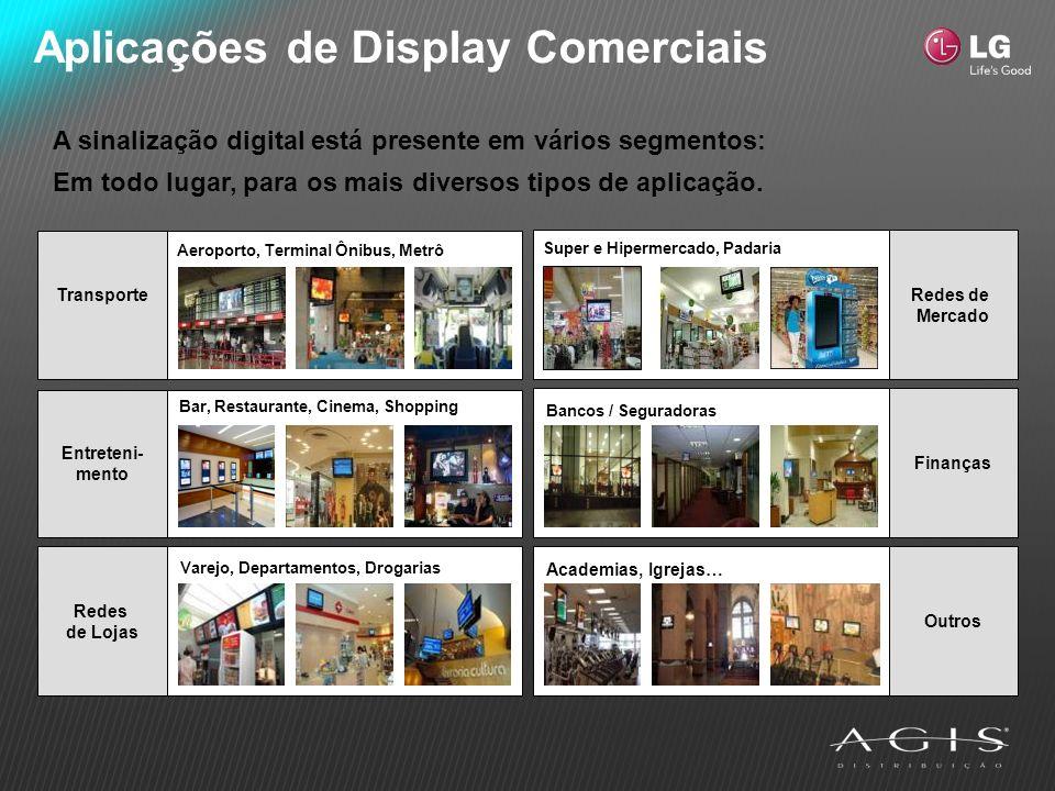 Aplicações de Display Comerciais