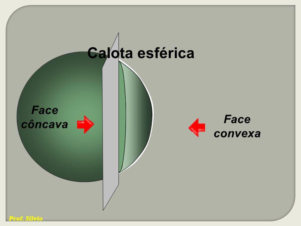 Calota esférica Face côncava Face convexa Prof. Sílvio