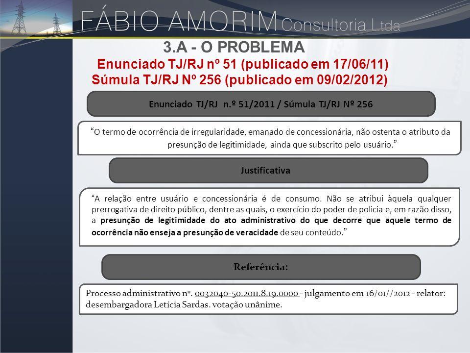 3.A - O problema Enunciado TJ/RJ nº 51 (publicado em 17/06/11)
