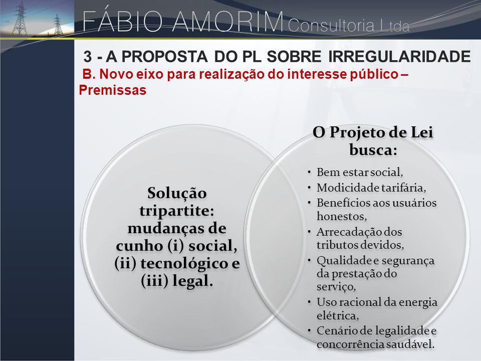 3 - A PROPOSTA DO PL SOBRE IRREGULARIDADE
