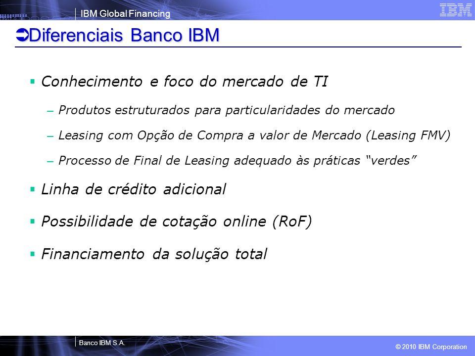 Diferenciais Banco IBM