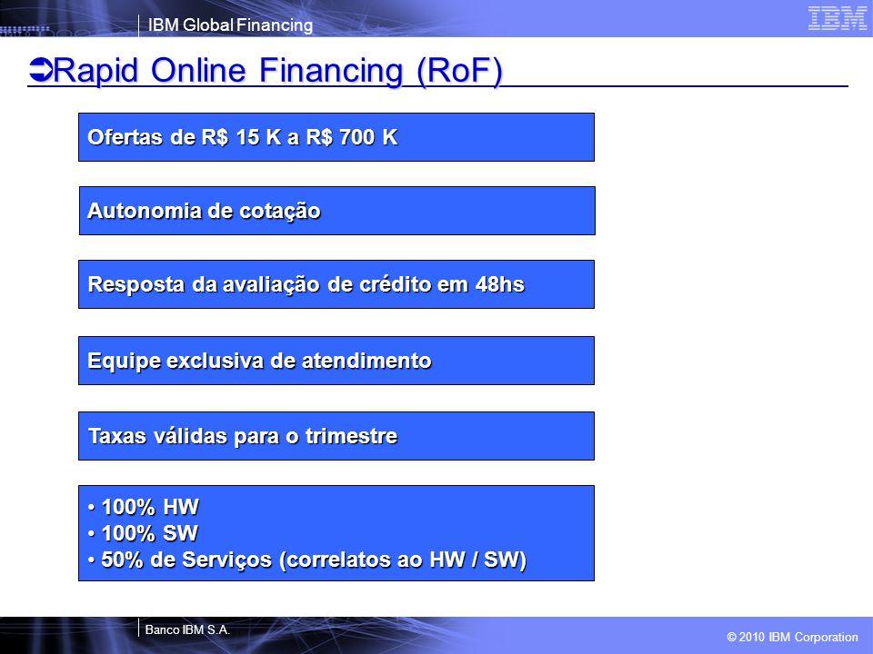 Rapid Online Financing (RoF)
