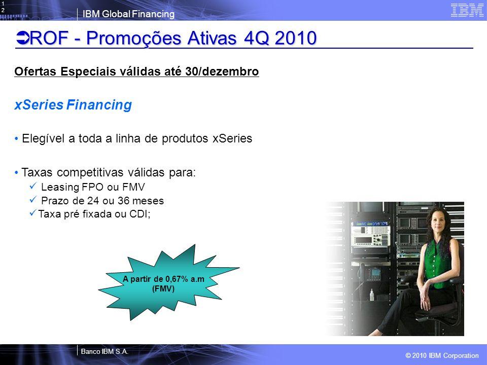 ROF - Promoções Ativas 4Q 2010