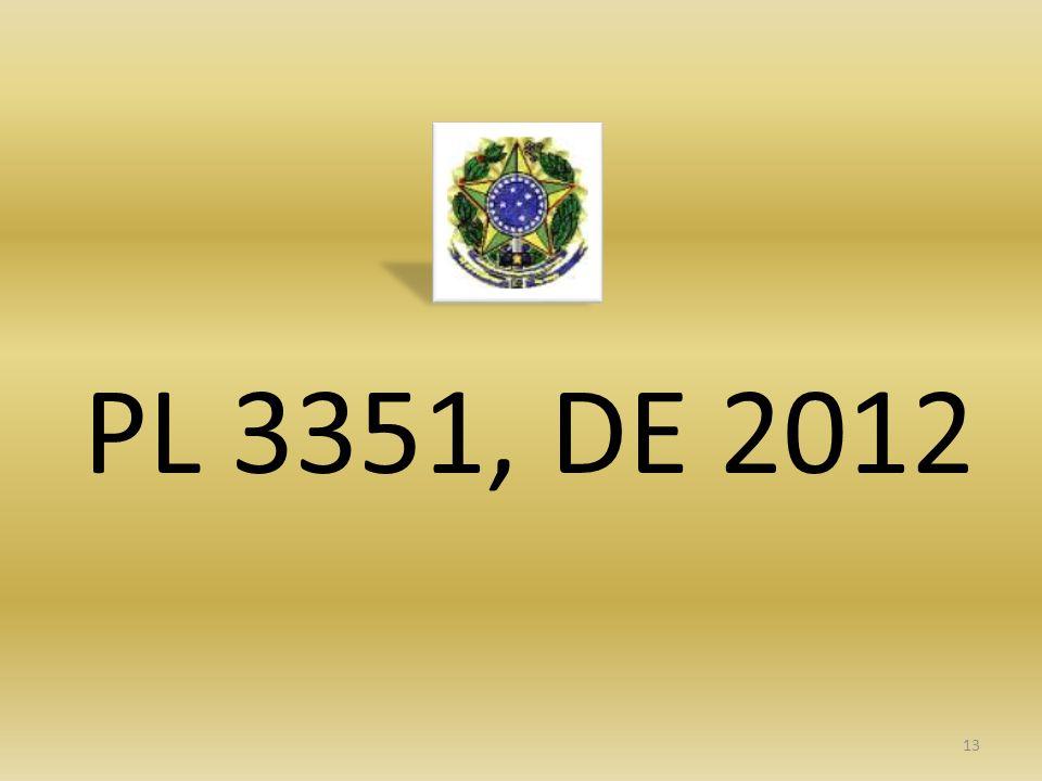 PL 3351, DE 2012