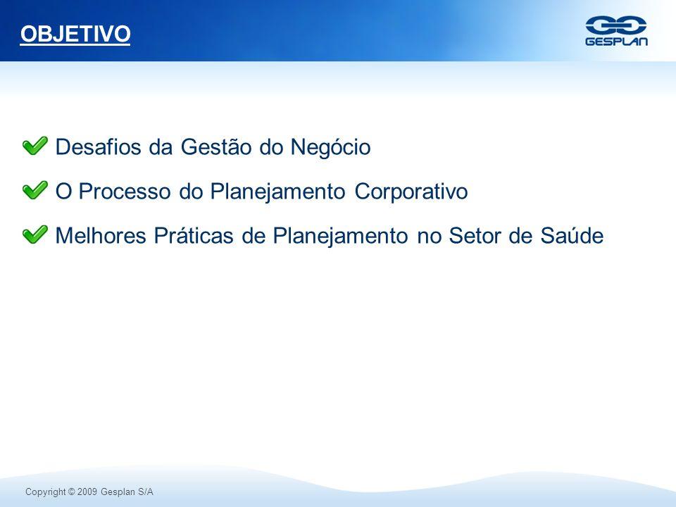 OBJETIVO Desafios da Gestão do Negócio. O Processo do Planejamento Corporativo.