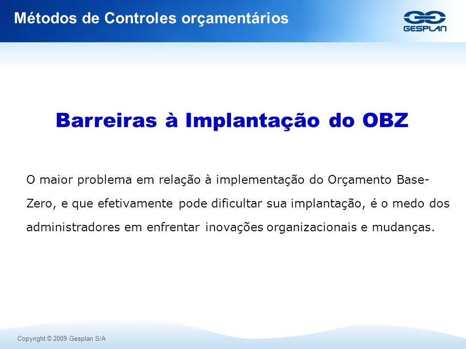 Barreiras à Implantação do OBZ