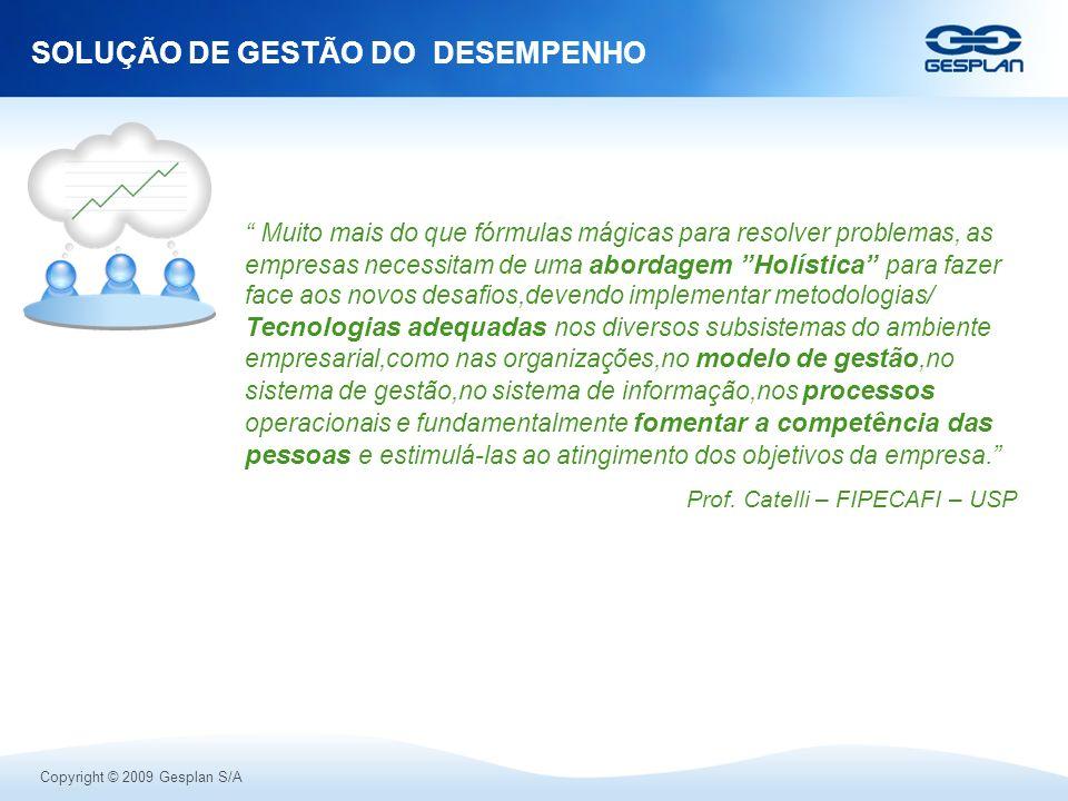 SOLUÇÃO DE GESTÃO DO DESEMPENHO