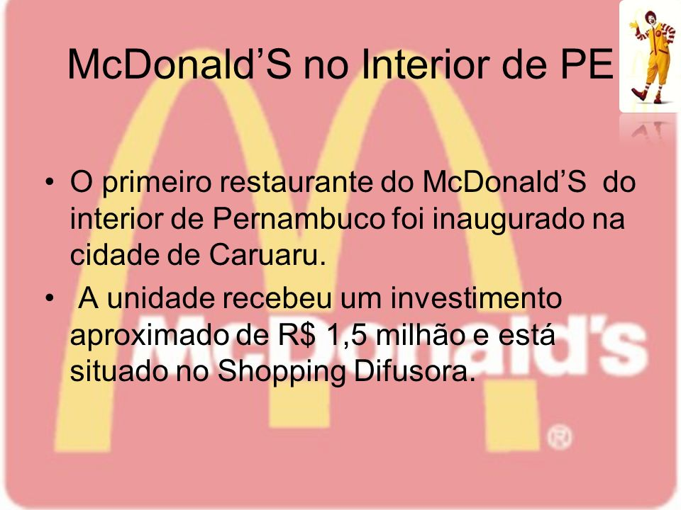 McDonald'S no Interior de PE